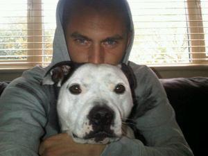 Lansbury with dog