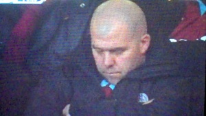 West Ham fan asleep 1